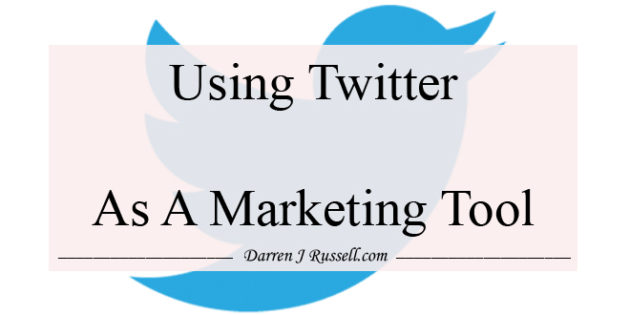 Using Twitter as a marketing tool